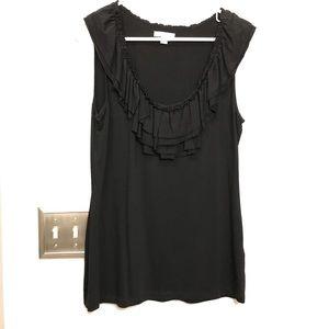 NY & Company Size L Black Tank top